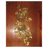 Gold Painted Wood Wall Décor