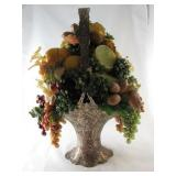 Fruit Décor in Brass Basket