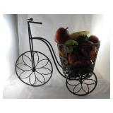 Metal Tricycle with Fruit Décor