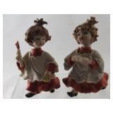 Vintage Capodimonte Singing Girl Figurines, mark N