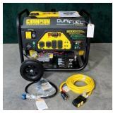 Champion 9000-watt dual fuel generator- New