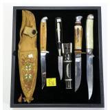4- Knives: Hamemr, Solinger Sabre, V. Arge knife