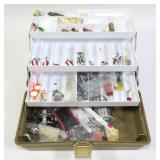 Adventurer 1713 tackle box with contents