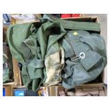 Lot, dufflebag, pouches, clothing