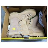Pair Belleville tan infantry combat boots, size 9R