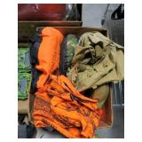 Lot, Boy Scout canteen an backpack, camo seats,