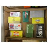 Lot, partial boxes and reloads ammo: .357, .38 Spl
