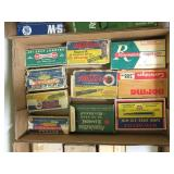 Lot, vintage boxes ammo, brass, reloads