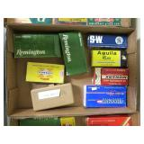 Lot, partial boxes ammo and reloads: .45, .38