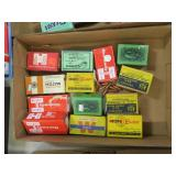 Lot, bullets: 9mm, .243, 7mm, .270 WIN, 7 boxes