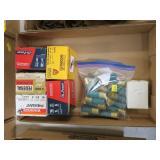 Lot, shotgun ammo: 5 boxes 16 Ga. and bag of 12 Ga
