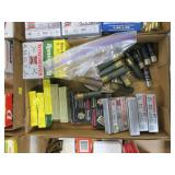 Lot, 12 Ga. ammo: 2 large boxes, 11 small boxes,