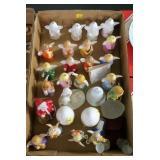 Lot, 17 Hummel bells, Santa, chicken eggs, angels