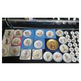 Lot, 45 Hummel plates by Schmidt, 25 are miniature