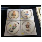 Lot, four Hummel Celebrate Plates with boxes: