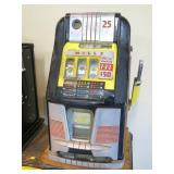 Mills 25-cent slot machine with $50 grand prize