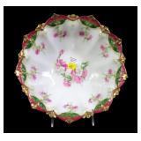 "10 1/2"" Austrian ""Toscana"" floral design bowl"