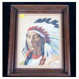 "9 1/2"" x 7 1/2"" watercolor of Red Cloud (1822-"