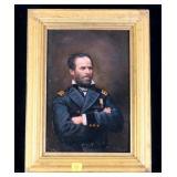 "10"" x 7"" Oil on board, General William Sherman"