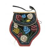 "Indian beadwork purse/pouch, 7"" H"