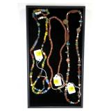 Lot, 3 Indian bead necklaces