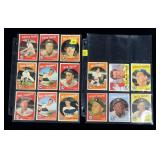 Lot, 14 Topps 1959 NY Yankees baseball cards