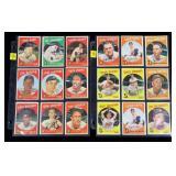Lot, 18 1959 Topps baseball cards: #