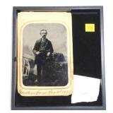 Tin type photo Senator Harold White, Saratoga
