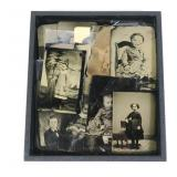 Lot, 28 tin type photos of children