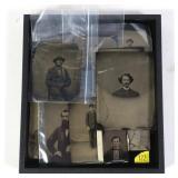 Lot, 25 tin type photos of men