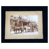 "7 3/4"" x 11"" photo of 4 horse and large wagon"
