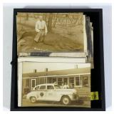 Lot, 28 photo postcards: trolly, tourist boat,