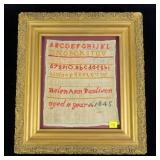 Sampler of Helen Ann Paulison, age 11, 1845,