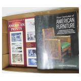 Lot, furniture collecting books
