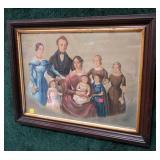 """14"""" x 19"""" family portrait signature C. Geibel"""