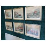 "Lot, 6 ""Bachelors Hall"" prints, 13"" x 16"" each"