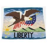"""20"""" x 26"""" Liberty hooked rug"""