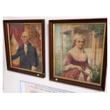 "2- 24"" x 20"" Chromolithographs, George and"