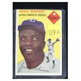 1954 Topps #10 Jackie Robinson baseball card