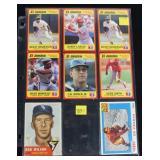 Lot, 9 baseball cards: Topps 1953 #250 Wilson;
