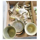 Lot, brassware and brass animals