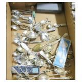 Large lot souvenir demitasse spoons and