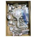 Lot, silverplate flatware and serving pieces plus