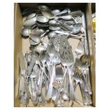 Lot, silverplate flatware, some stainless