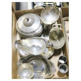 Lot, silverplate serving pieces