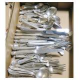 Lot, silverplate flatware