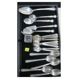 Lot, silverplate spoons, forks, serving pieces