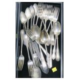 Lot, silverplate spoons and forks