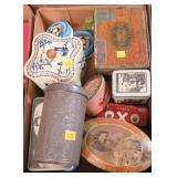 Lot, advertising tins, some are Dutch