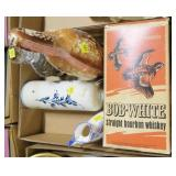 Lot, Bob white gift decanter, stoneware bottle,
